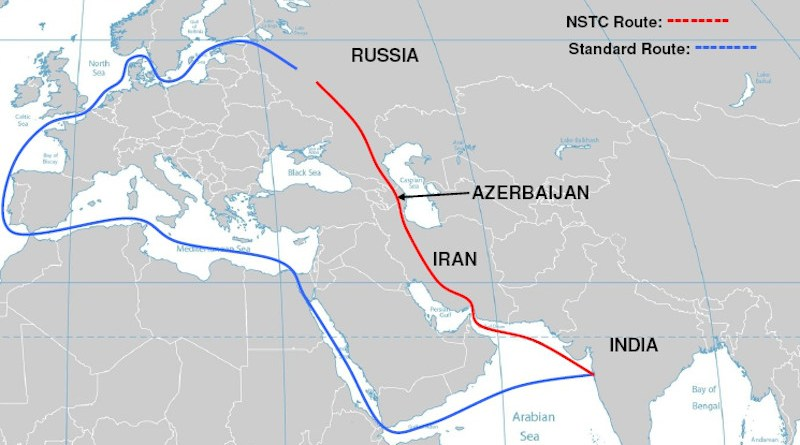 The International North-South Transport Corridor (INSTC). Credit: Wikipedia Commons