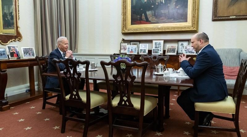 US President Joe Biden with Israel's Prime Minister Naftali Bennett at the White House. Photo Credit: The White House