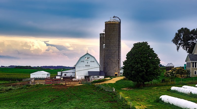 Wisconsin Dairy Farm Silo Barn House Landscape