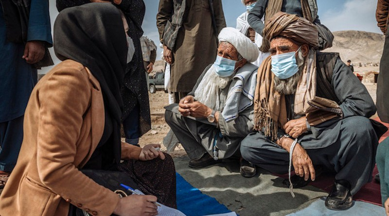 The UN has been supporting displaced families in Afghanistan, providing emergency shelter and protection. Credit: IOM/Mohammed Muse