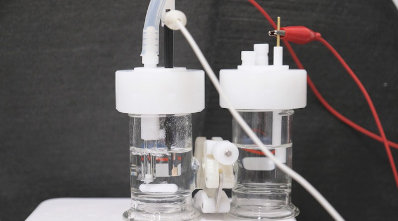 The NTU research team tapped electrocatalysis – a process using electricity to drive chemical reactions in a solution – to devise the 'greener' method to make urea. CREDIT: NTU Singapore