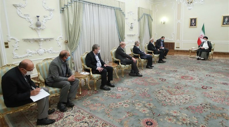 Iranian President Ebrahim Raisi meets with some Palestinian leaders in Tehran. Photo Credit: Tasnim News Agency