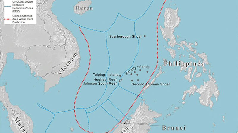 The area which is claimed under China's nine dashed line. (Keanehm, May 14, 2020) south china sea