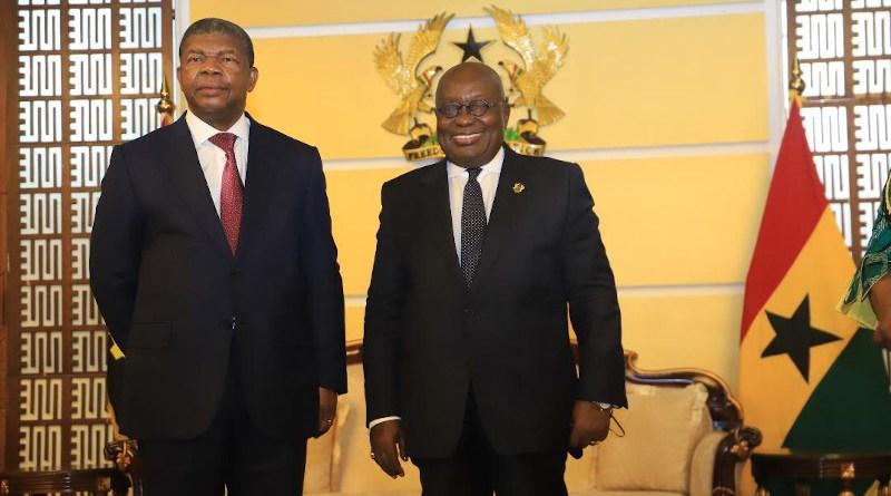 President João Manuel Gonçalves Lourenço of Angola (left) and President Nana Addo Dankwa Akufo-Addo of Ghana (Photo supplied)