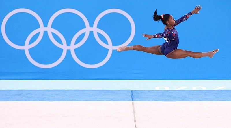 Simone Biles at the 2020 Summer Olympics. Photo Credit: Secretaría de Deportes, Wikipedia Commons