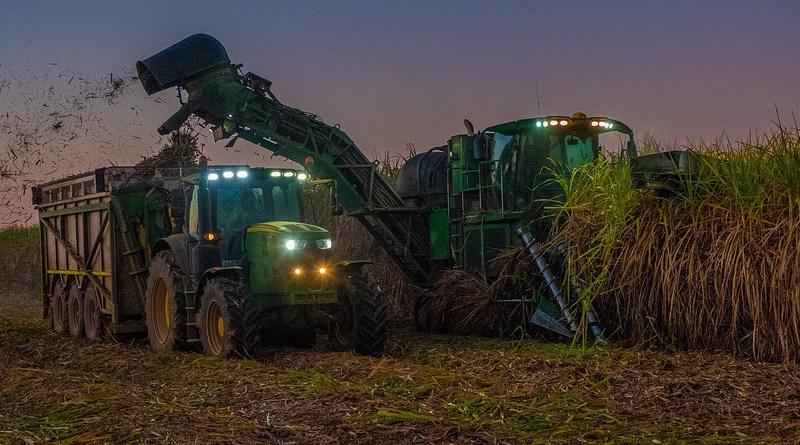 Australia Farm Tractor John Deere Sugar Sugar Cane Harvesting