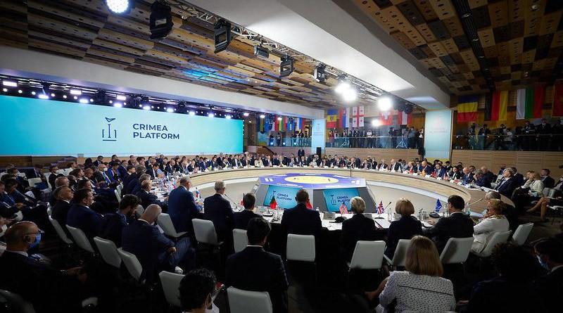 The Crimea Platform summit is a new consultative format initiated by Kyiv to coordinate an international response to the Russian occupation. [Flickr/President of Ukraine]