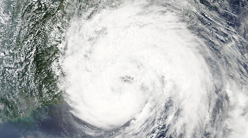 Typhoon Soudelor over the Taiwan Strait on August 8, 2015. Photo Credit: NASA