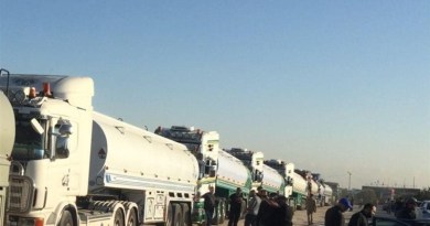 Convoy of tankers carrying Iranian fuel in Lebanon. Photo Credit: Tasnim News Agency