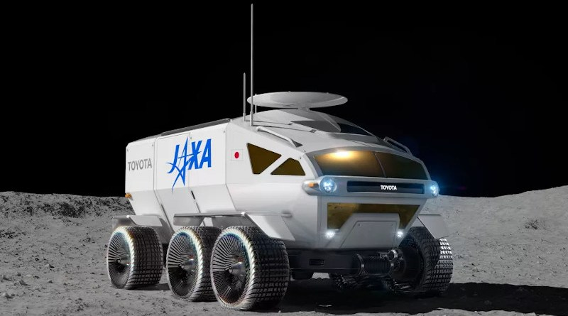 Artist's illustration of the planned Toyota/JAXA rover on the moon. Credit: Toyota/JAXA