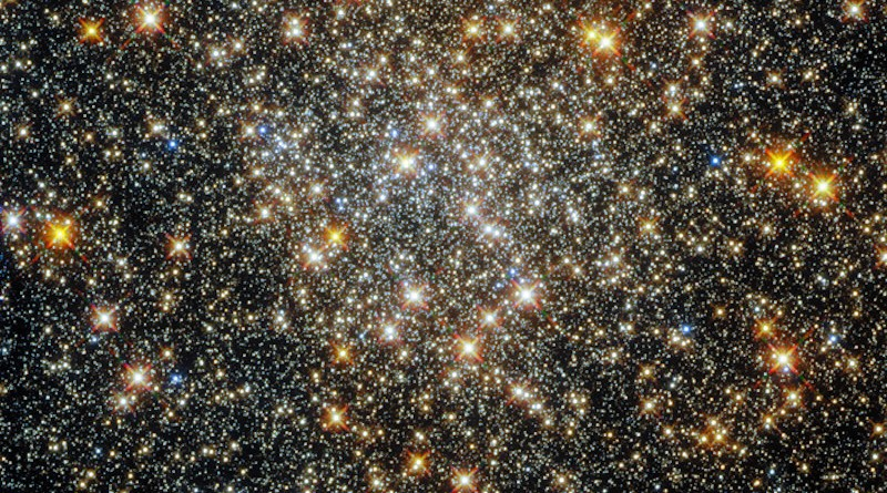 This sparkling starfield, captured by the NASA/ESA Hubble Space Telescope's Wide Field Camera 3 and Advanced Camera for Surveys, contains the globular cluster ESO 520-21 (also known as Palomar 6). CREDIT: ESA/Hubble and NASA, R. Cohen