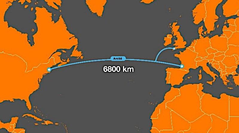 "Location of ""AMITIE"" submarine telecommunications cable. Credit: Orange"