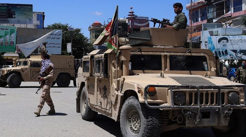 Taliban driving US military Humvees in Afghanistan. Photo Credit: Fars News Agency