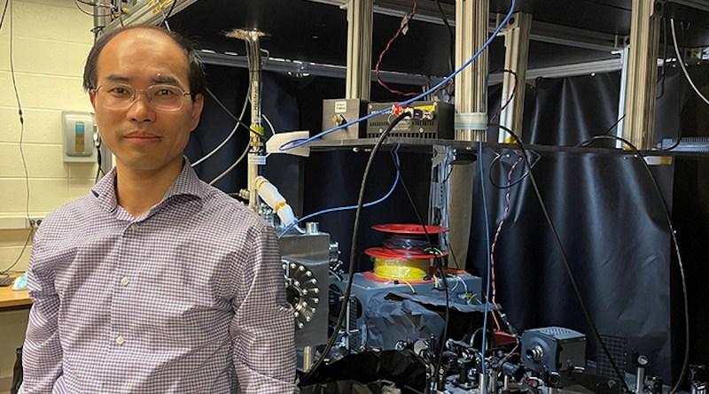 Tongcang Li and his team at Purdue University have developed ultrathin quantum sensors with 2D materials. CREDIT: Cheryl Pierce, Purdue University