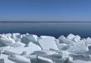 Ice breakup on Oneida Lake in New York CREDIT: Photo by Professor Lars Rudstam, Cornell University