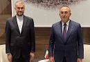 File photo of Iranian Foreign Minister Hossein Amirabdollahian and Turkish counterpart Mevlut Cavusoglu. Photo Credit: Tasnim News Agency