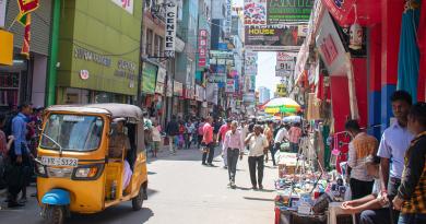 Busy Street Sri Lanka Market People