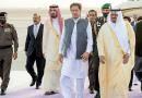 Pakistan's Prime Minister Imran Khan arrives at King Khalid International Airport in Riyadh on Sunday. (SPA)