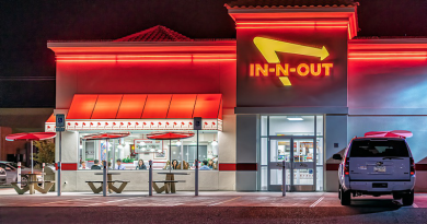 Restaurant In-N-Out Burger Night Neon Building