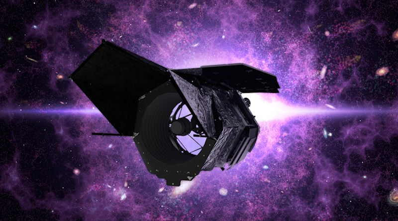 Artistic rendering of the Nancy Grace Roman Space Telescope, currently under development by NASA, which will be used in the search for distant planets beyond our solar system. CREDIT: NASA/Provided