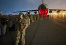 Army paratroopers assigned to the 82nd Airborne Division prepare to board an Air Force C-17 at Hamid Karzai International Airport in Kabul, Afghanistan, Aug. 30, 2021. Photo Credit: Army Master Sgt. Alexander Burnett