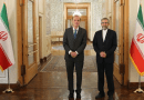 The EU's chief negotiator on the Iranian nuclear deal, Enrique Mora (left), poses with Ali Bagheri, Iran's chief negotiator. (IRNA, file photo)