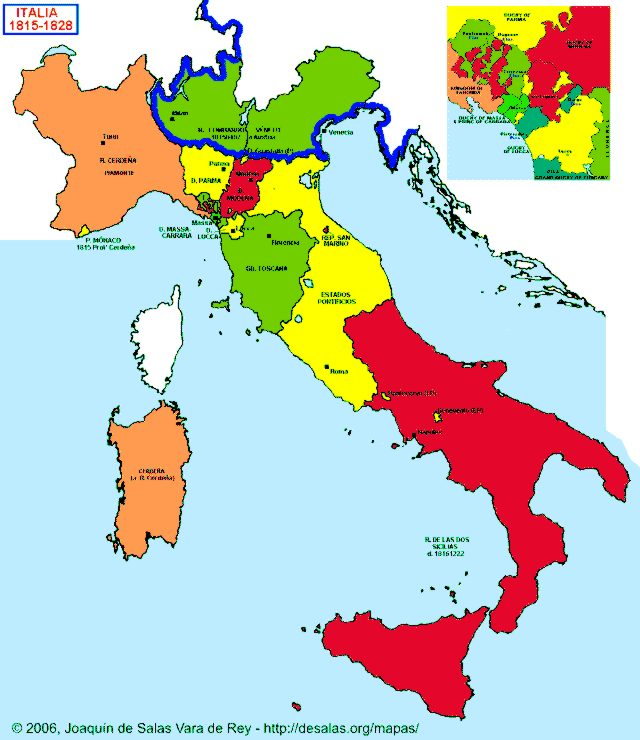 Hisatlas  Map of Italy 18151828