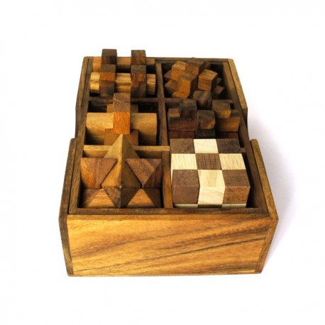 coffret 6 jeux en bois