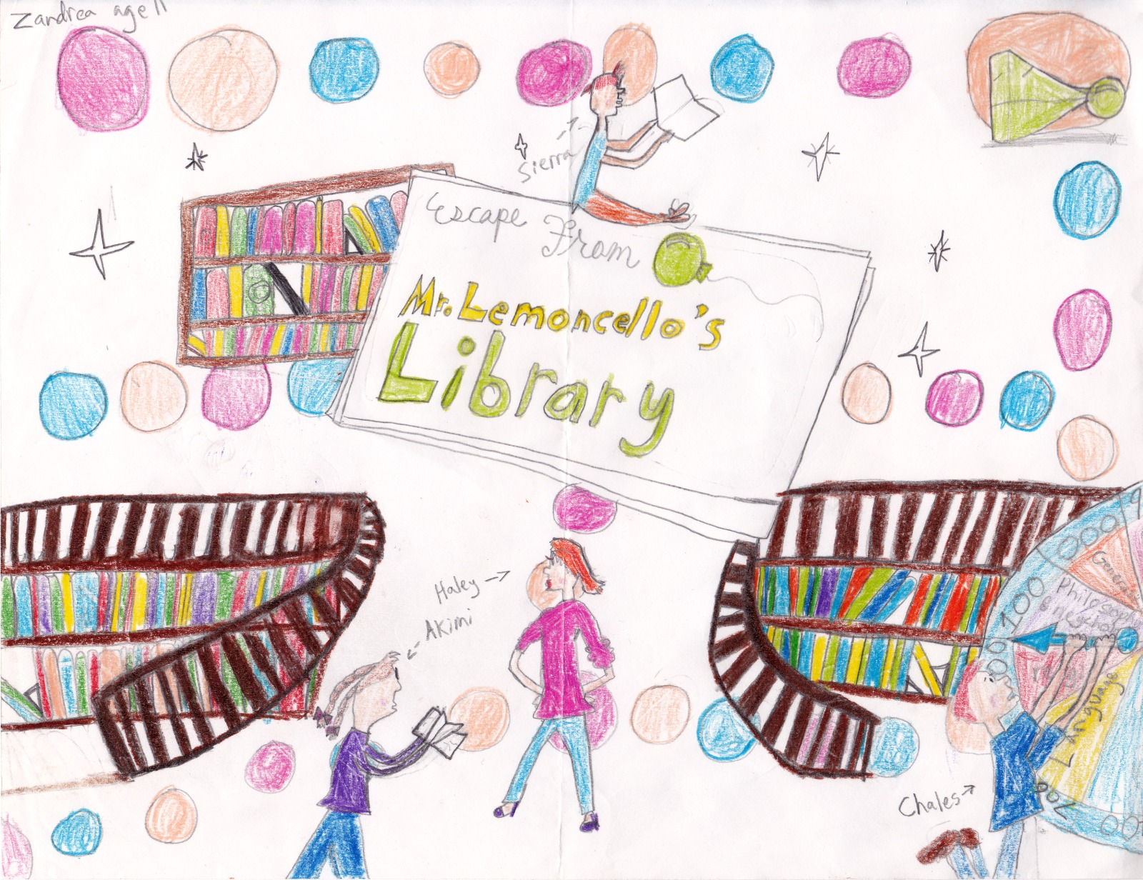 Escape From Mr Lemoncello S Library Artwork By Zandrea