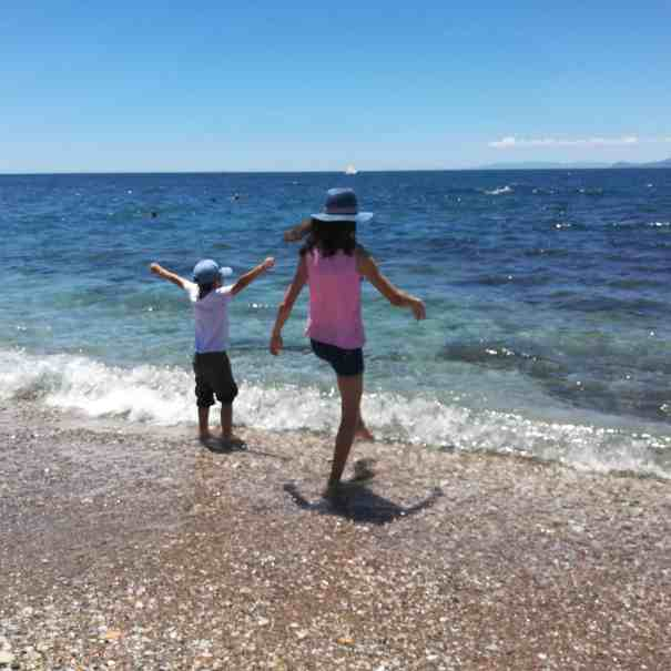 athens by the sea with kids