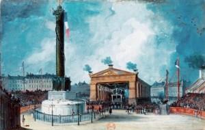Inauguration de la colonne de Juillet en juillet 1840 (gouache)