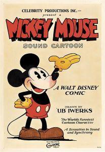 Poster de 1928 représentant Mickey mouse