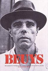 affiche portrait de Beuys 1974