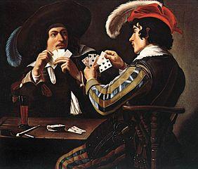 Tableau de Theodore Rombouts representant des joueurs de cartes