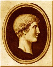 portrait de Martial sous forme de profil de camée