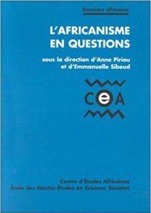 Couverture du livre L'Africanisme en question