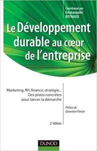 couverture du livre Le développement durable au coeur de l'entreprise