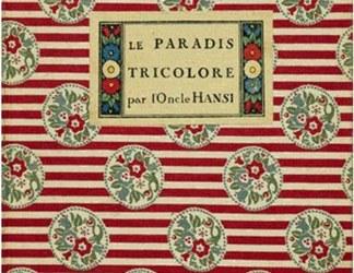 Je travaille sur le «paradis tricolore» de Hansi et je tente d'analyser la page 30 avec ses deux illustrations qui comparent le touriste allemand avant et pendant la guerre.