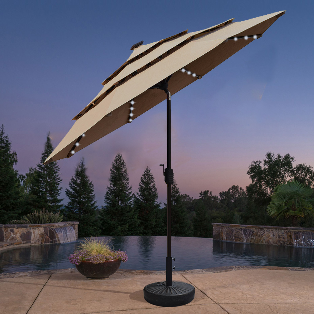 eliteshade sunbrella solar led lighting