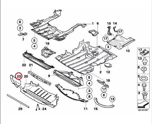 BMW (E90 E92 M3) / エンジン ルーム シールド トップ 左 / 51757896419 / BMW