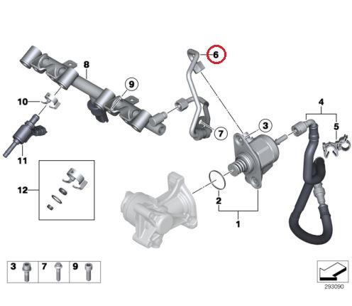 BMW MINI (R56 R60) / フューエルプレッシャーホース 高圧燃料ポンプ/ハイプレッシャーフューエル