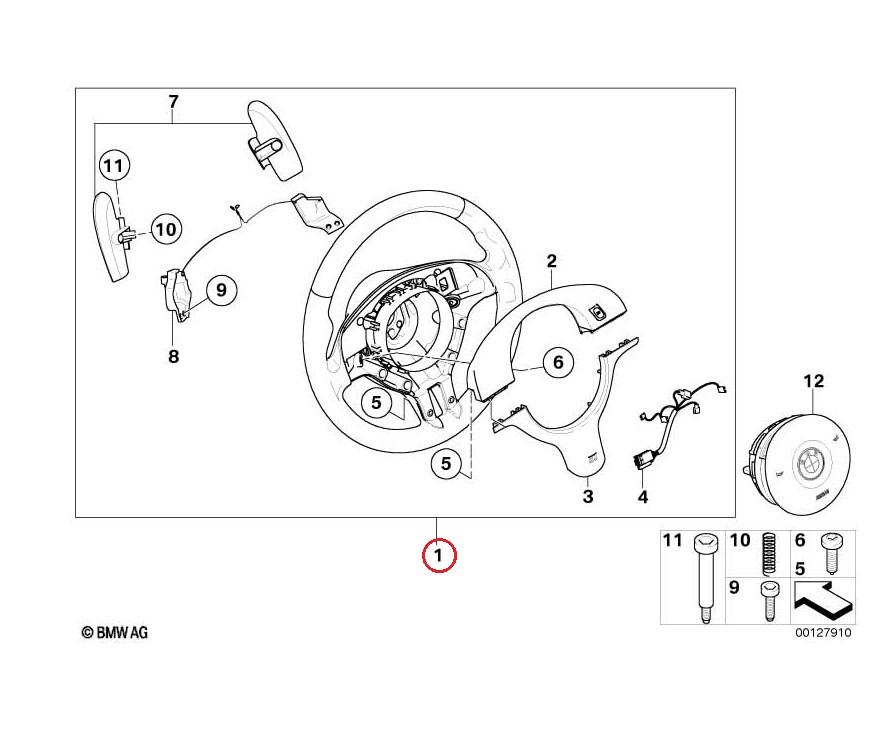 BMW (E46 M3) / コンペティション ステアリング ブラックアルカンターラ SMG用 パドル付