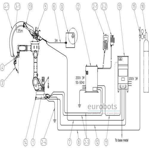 second hand robots used Panasonic VR006 arc welding robots