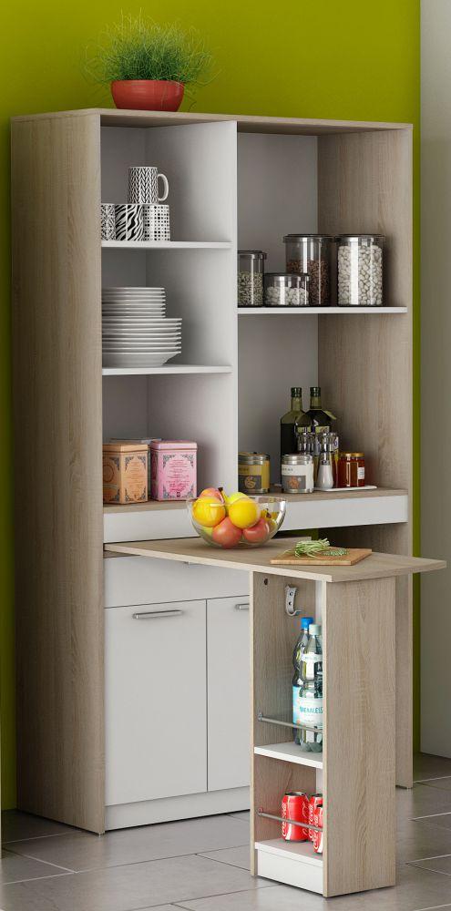 Mobile Da Cucina Con Penisola Colore Quercia E Bianco