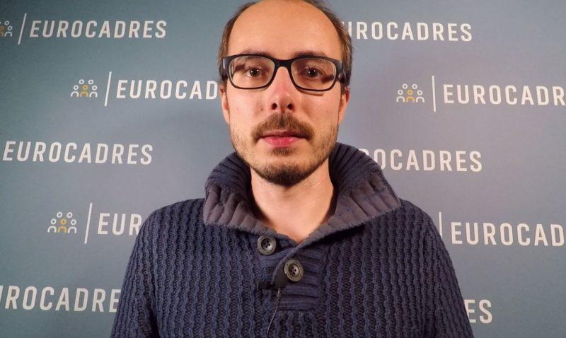 Antoine Deltour visiting Eurocadres in October 2017.
