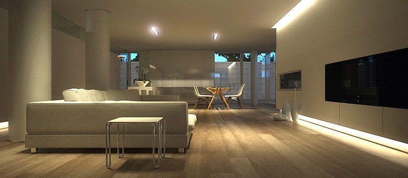 Come illuminare un salotto con la luce a LED