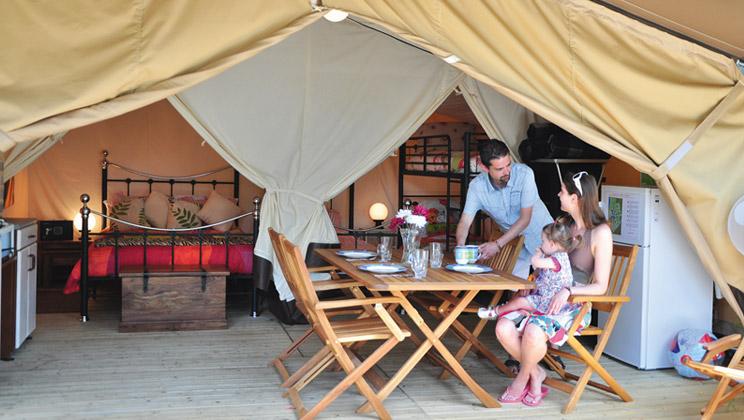 Spacious and Comfortable Safari Tent Sleeps 5  Eurocampcouk