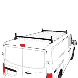 H1 Style Steel 2 Bar Roof Rack System for Nissan NV 1500