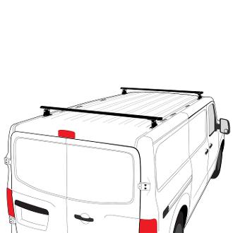 Vantech H3 Aluminum 2 Bar Roof Rack System for Nissan NV