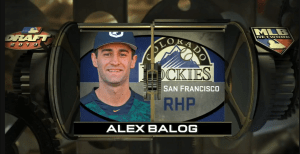 Rockies Alex Balog Competitive Balance Round B 70 Pick